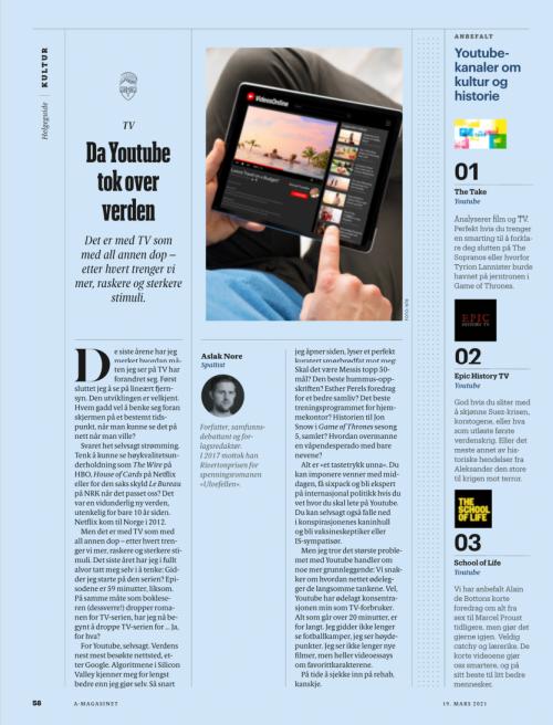 """Artikkel fra BT """"Da YouTube tok over verden"""""""