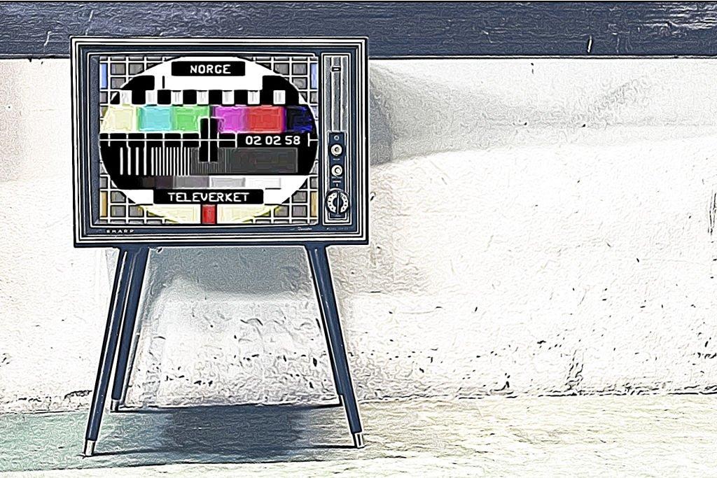 Prøvebilde på gammel TV